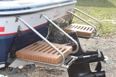 Small boat platforms, use brackets as handles to lift yourself up! $155 each