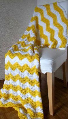 Crochet Blanket Afghan Modern Throw Chevron by AllieBlankets, $120.00