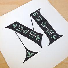 Image of 2nd Letterpressed M