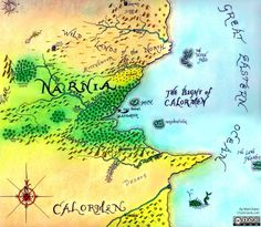 A map of Narnia in the style of Pauline Baynes. #narnia