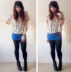 Beige Ankle Boots, Forever 21 Floral Dress, How To Get Warm, Black Tights, Denim Shorts, Mini Skirts, Black Stockings, Mini Skirt