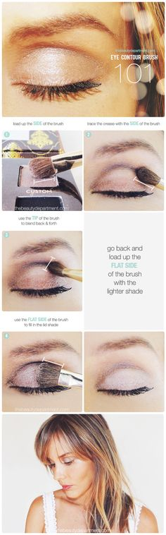 How we use our eye shadow brush!