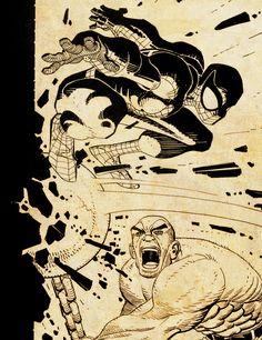 Spider-Man Battles The Absorbing Man By John Romita Jr.