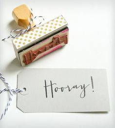"""""""Hooray!"""" Stamp 
