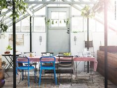 outdoor dining, ikea inspired
