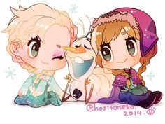 Bébés Elsa, Anna et Olaf