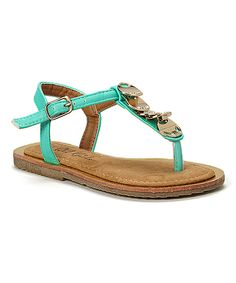 bb785c93a85 Look at this QQ Girl Mint   Gold Sophie Sandal on today!