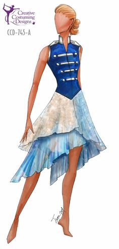 Creative Costuming and Designs- Online Catalog- CCD-745-A  DESCRIPTION: 3 tiered dress w/built in square briefs, solid back, zipper front BASE PRICE: $129.50