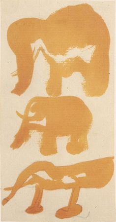 treebystream:drei elefanten byJoseph Beuys 1950