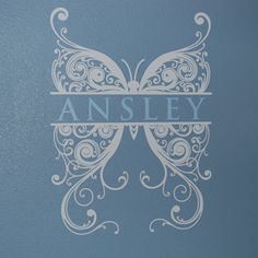 Wall Decals, Wall Stickers by DecalMyWall.com - Butterfly Monogram Wall Decal, $49.00 (http://www.decalmywall.com/monogram-wall-decals/butterfly-monogram-wall-decal/)