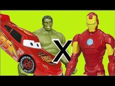 Hulk x Homem de Ferro Iron Man Avengers Relampago Lightning Mcqueen Film...