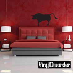 Bull Wall Decal - Vinyl Decal - Car Decal - 007