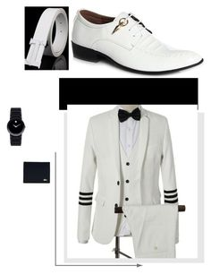 """""""Zaful #20"""" by soofficial87 ❤ liked on Polyvore featuring Movado, Lacoste, men's fashion and menswear"""