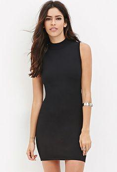 Mock Neck Sweater Dress - Shop All - 2000182337 - Forever 21 EU English
