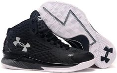 02e1688e9624 Under Armour Stephen Curry One Black White Curry One