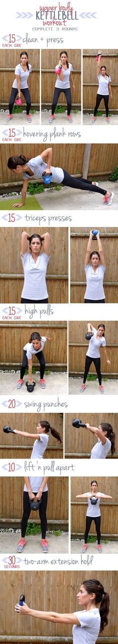 cool Diary of a Fit Mommy: Upper Body Kettlebell Workout