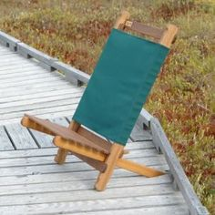 These wooden slat folding camp chairs would be great to bring out into the garden around the fire pit... We had these growing up, I had no ideas they'd be $75 each!