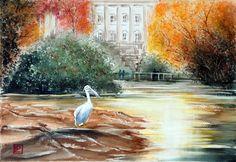 """  Hyde Park London ""acquerello di Lorenza Pasquali Paintings 35x51  www.lorenzapasquali.it  Copyright © Lorenza Pasquali —"