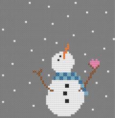 free snowman cross stitch patterns - Google Search