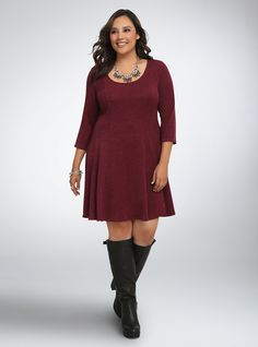 Knit Skater Sweater Dress $58.50 (This would be super cute with my leggings and boots!)
