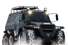 """The Shaman All-Terrain Vehicle isn't your run-of-the-mill Jeep. This beast is nothing like most off-road vehicles. Designed by Russian automaker Avtoros, the Shaman gives new meaning to the phrase """"off-road performance"""". The Shaman All-Terrain Vehicle is an amphibious eight-wheel drive all-terrain vehicle that seems to know no bounds when it comes to off-road performance. The Shaman is an incredibly agile …"""