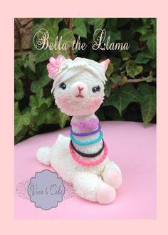 Bella the Llama fondant topper and custom made by vivalacakeshop, $45.00