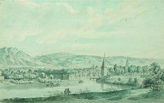 Vista de uma cidade da Franche-Comté. 1776. Aquarela. Alexis Nicolas Pérignon, o Velho (Nancy, França, 1726 - 1782, Paris, França).