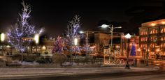 I love Christmas season in Uptown, so beautifully decorated, always feels like walking through a movie during Christmas! Still Christmas in Uptown Waterloo , Ontario Waterloo Ontario, Xmas, Christmas Tree, Introvert, Feels, Walking, Canada, Movie, Seasons