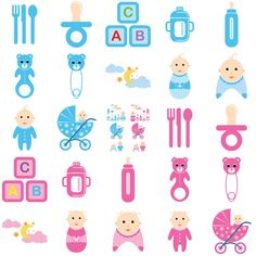 Baby time vector selection including, baby boy and baby girl, baby toys, bottle, soother, etc... Useful as clipart for your designs, website, blog, scrapbook,... Have fun using! Format: 1 eps/svg, ...