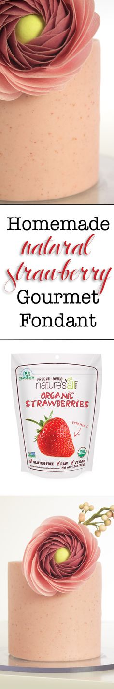Make gourmet, natural strawberry fondant with my delicious recipe at karascouturecakes.com! You'll never look at fondant the same again :)