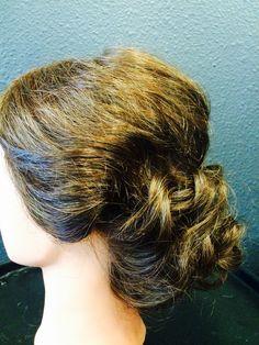 Vintage wave bridal updo