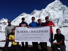 School Challenges - Everest Basecamp http://www.ganeandmarshall.com/schools/expedition/Himalayas-of-Nepal.html