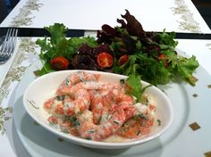 Salad lunch with shrimp in Paris. #travel