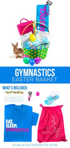 Surprise a favorite athlete with a great Easter basket filled with great ChalkTalkSPORTS gifts, such as tees, bags, jewelry and waterbottles! Gymnastics Coaching, Gymnastics Gifts, Gymnastics Stuff, Theme Baskets, Halloween Office, 10th Birthday, Birthday Ideas, Easter Gift Baskets, Easter Treats