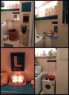 Small laundry room makeover. Before and after