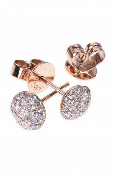 rose gold #diamond #stud #earrings I designed for NEW ONE I NEWONE-SHOP.COM