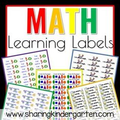 Learning labels for math centers