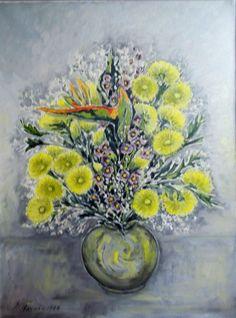 #87 Huile 1988 18'' x 25'' 100$ Painting, Art, Watercolor Paintings, Oil, Art Background, Painting Art, Kunst, Gcse Art, Paintings