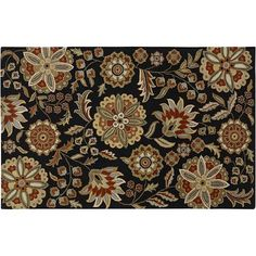 Surya rugs spring your decor into style. Featuring a charming floral pattern, this Athena area rug provides an eye-catching accent to any room. In black. Entry Rug, Decoration, Wool Rug, Rug Size, Cotton Canvas, Latex, Area Rugs, Tapestry, Floral