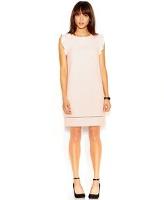 Maison Jules Flutter-Sleeve Crew-Neck Dress - Dresses - Women - Macy's