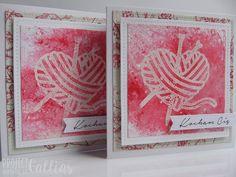 ProjectGallias dla Agateria Craft - Kartka z sercem, ProjectGallias, kartka, stempel, serce, walentynki, kocham cię