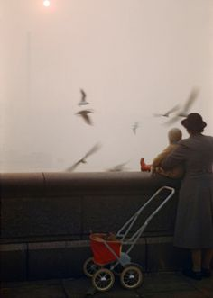 Fog on the Thames, London, 1954, by Inge Morath.