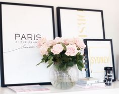 Feminine and edgy - you can't go wrong with this girly color palette of black and white mixed with gold and pale pink. /BR | www.thisisglamorous.com