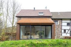 puzzles architecture house extension. 3 different roof materials