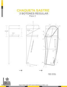Manual de patronaje CMT - SENA Coat Patterns, Clothing Patterns, Dress Patterns, Sewing Patterns, Tailoring Techniques, Sewing Techniques, Collar Pattern, Jacket Pattern, Pattern Cutting