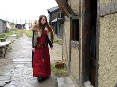 Woman in Foteviken Viking Reservation