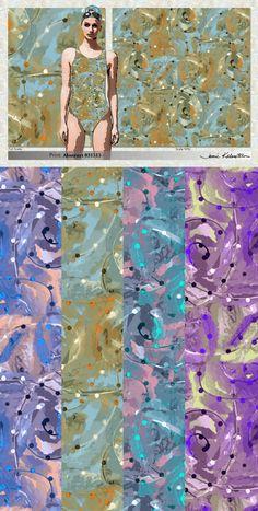 Swimwear Print: Abstract #031515