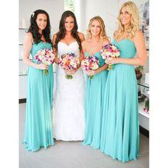 Bridesmaids' Dresses | Tiffany Blue