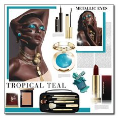 """Metallic Eyes"" by littlefeather1 ❤ liked on Polyvore featuring beauty, Oris, Kevyn Aucoin, Bobbi Brown Cosmetics, Yves Saint Laurent, Lancôme, topsets and polyvoreeditorial"