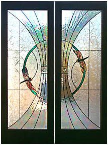 Beautiful doors with Stained Glass and Dragonflies!
